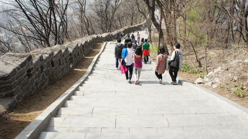 Chemin Namsan Tower - Seoul (photo personnelle)