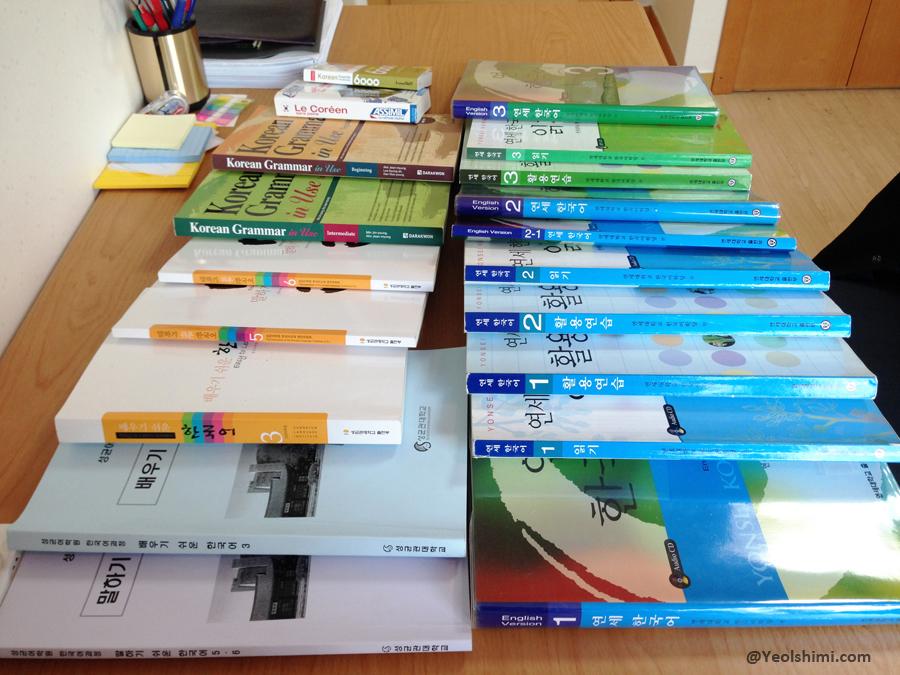 Liste des livres de coréen déjà en ma possession